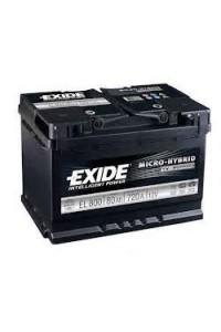 Starting car battery Tudor EL800 Start & Stop