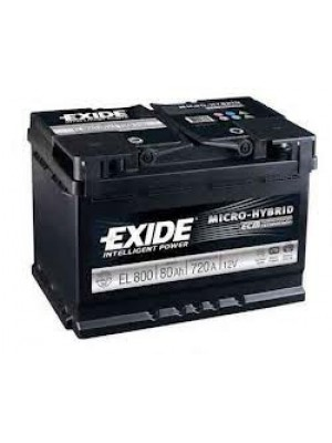 Starting car battery Tudor EL800 Start & Stop