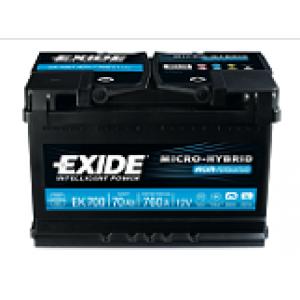 Batteria auto avviamento Tudor EK700 Start & Stop