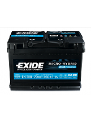 Starting car battery Tudor EK700 Start & Stop