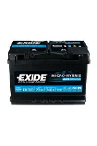 Starting car battery Tudor EK800 Start & Stop