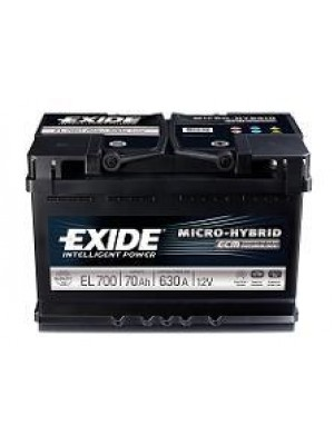Starting car battery Tudor EL700 Start & Stop